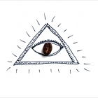 coffee eye in pyramide